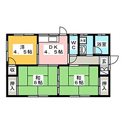 [一戸建] 岐阜県羽島市福寿町平方12丁目 の賃貸【/】の間取り