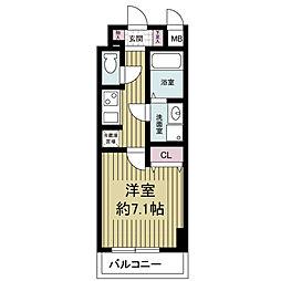 S-RESIDENCE Hommachi Marks[1007号室]の間取り