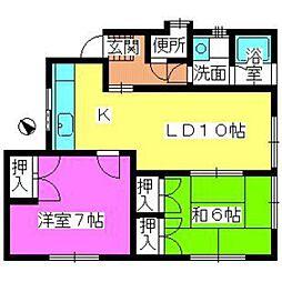 福岡県福岡市南区和田4丁目の賃貸アパートの間取り