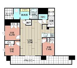 グランドメゾン浄水ガーデンシティフォレストゲートII(506)[506号室]の間取り