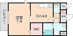 大阪府豊中市豊南町東3丁目の賃貸アパートの間取り