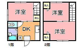 シーパレス玉田 D・E[1階]の間取り