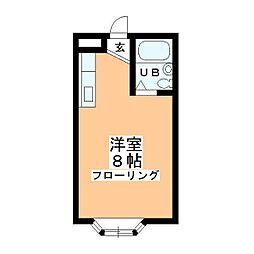 チェリム霞ヶ関[203号室]の間取り
