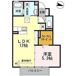 サンドハウス B棟[1階]の間取り