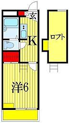 ドゥマン[1階]の間取り