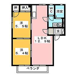 フレグランス342 D[2階]の間取り