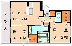 ソフィア新宮II[1階]の間取り