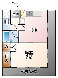 キャッスル甲子園[2階]の間取り