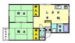 プレジールハイツ[1階]の間取り