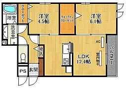 EVISTAGE甲子園[1階]の間取り