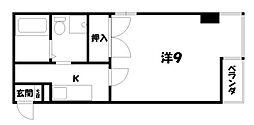 京都府京都市中京区柿本町の賃貸マンションの間取り