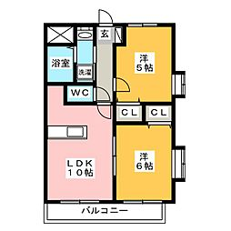 サン セフィール[3階]の間取り
