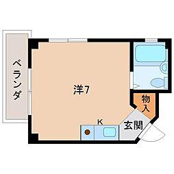 和歌山県和歌山市中島の賃貸マンションの間取り