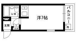 兵庫県西宮市広田町の賃貸マンションの間取り