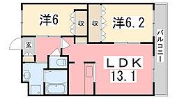 サンハイツIII[201号室]の間取り
