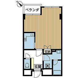 新潟県新潟市中央区川端町の賃貸マンションの間取り