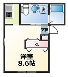 コーラルマンション[102号室]の間取り