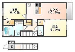 サンハートピアB・C棟 C棟[2階]の間取り