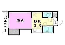 城北電気ビル[205 号室号室]の間取り