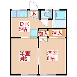住吉コーポ[1階]の間取り