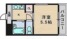 ソニックス2000 3階1Kの間取り