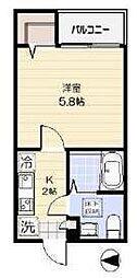東京都足立区梅島1丁目の賃貸アパートの間取り