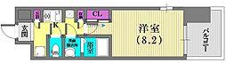 兵庫県神戸市兵庫区新開地4丁目の賃貸マンションの間取り