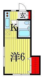 コークハイム[1階]の間取り