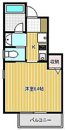 東京都品川区西五反田5丁目の賃貸アパートの間取り