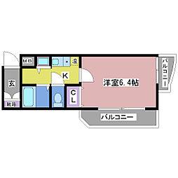YKハイツ桜町[3階]の間取り