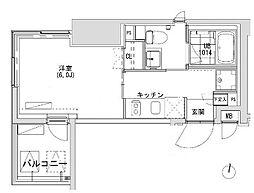 東京都渋谷区広尾1丁目の賃貸マンションの間取り