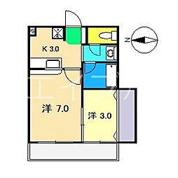 ダイヤハウス[2階]の間取り