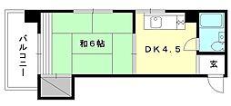 トキワハイツ[206 号室号室]の間取り