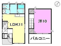 [一戸建] 愛媛県松山市南久米町 の賃貸【/】の間取り