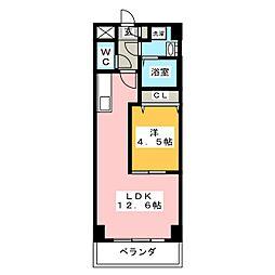 ベルコリーヌ葵[2階]の間取り