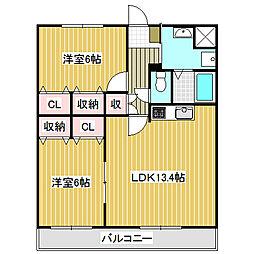 愛知県名古屋市港区十一屋3丁目の賃貸アパートの間取り