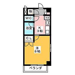 愛知県名古屋市中村区松原町2の賃貸マンションの間取り