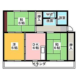 ハイツエトアール[3階]の間取り