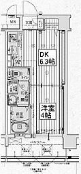 アクアプレイス京都西院[7階]の間取り