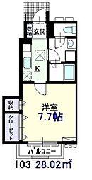 東京都葛飾区西新小岩3丁目の賃貸アパートの間取り