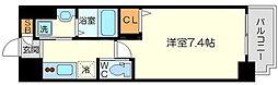 PLACZ SHIN-OSAKA 11階1Kの間取り