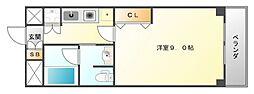 ハイムタケダT-10[3階]の間取り