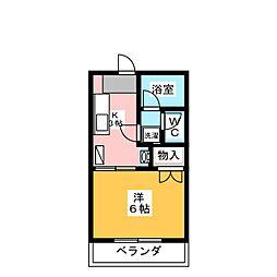 L・NISHIKI[1階]の間取り