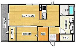 エルマーナB棟[1階]の間取り