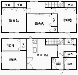 [一戸建] 静岡県浜松市中区鴨江2丁目 の賃貸【/】の間取り