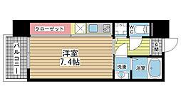 アーデンタワー神戸元町[507号室]の間取り