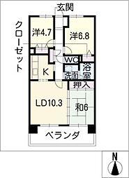 サンコート桃花台 A棟[3階]の間取り