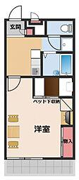 JR東海道・山陽本線 摂津富田駅 3.2kmの賃貸アパート 2階1Kの間取り