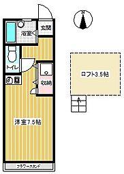 コーポセブン[302号室]の間取り