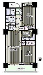 ウエルタワー深川 32階2LDKの間取り